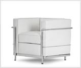 Fotel Le Corbusier biały do wypożyczenia
