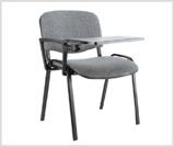tapicerowane krzeslo iso z pulpitem, idealne na szkolenia