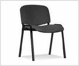 Czarne tapicerowane krzeslo ISO - konferencyjne