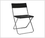 Czarne krzesło składane na wypożyczenie, wynajem krzeseł składanych wrocław poznań kraków warszawa