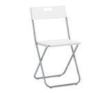 Krzesło składane białe - meble eventowe katowice