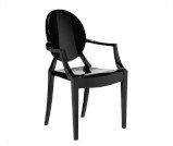 Krzesło Ghost Czarne - wypożyczalnia mebli targowych Wrocław
