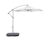 parasol biały film - meble eventowe lodz