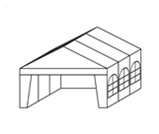 Namiot biesiadny 6m - wypożyczalnia namiotów Kraków