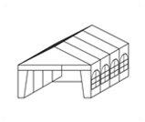 Namiot biesiadny 8m - wypożyczalnia namiotów Jelenia Góra