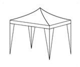 Pawilon standard - wynajem namiotów Warszawa