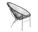 Fotel siesta czarny - Wynajem mebli Kraków