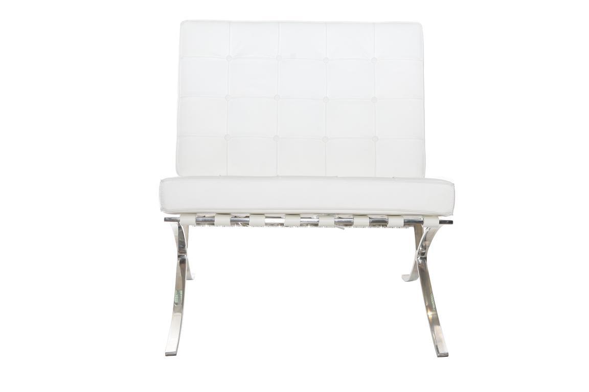Fotel biały barcelona - Wynajem mebli poznań